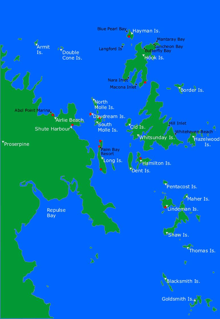 Molle Islands Map