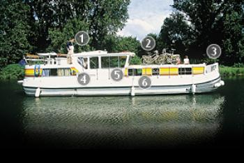 Yacht charter Pénichette Flying Bridge - 1400FB - France, Franche-Comté, Digoin